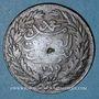 Monnaies Tunisie. Abdul Mejid, sultan avec Muhammad el-Sadok, bey (1277-1293H). 1 kharoub 1289H (= 1872)