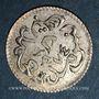 Monnaies Tunisie. Ottomans. Abdoul Mejid (1255-1277H) avec Muhammad Bey. 2 kharub argent 1274 H. Tunis