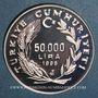 Monnaies Turquie. 50.000 lira 1996. (PTL 925/1000. 31,47 g)