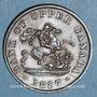 Monnaies Upper Canada (Haut-Canada). Bank of Upper Canada. 1/2 penny token 1857
