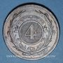 Monnaies Uruguay. 4 centesimos 1869A. Paris