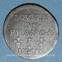 Monnaies Ardennes. Duché de Bouillon. Godefroy-Maurice de la Tour d'Auvergne. Double de France. 1683