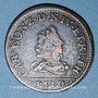 Monnaies Ardennes. Princ. d'Arches & Charleville. Charles I de Gonzague (1601-37). Liard au buste étroit 1610