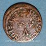 Monnaies Ardennes. Principauté d'Arches & Charleville. Charles II de Gonzague (1637-59). Denier tournois 1651