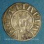 Monnaies Auvergne. Evêché de Clermont. Monnayage anonyme (13e siècle). Denier
