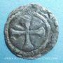 Monnaies Auvergne. Evêché du Puy. Obole (fin du XIIe siècle). Type avec traces de légendes