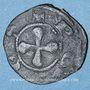 Monnaies Auvergne. Evêché du Puy. Obole (XIVe siècle). Type avec légendes