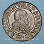 Monnaies Berry. Princ. de Boisbelle & Henrichemont. Maximilien de Béthune, duc de Sully. Double tournois 1636