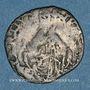 Monnaies Comtat Venaissin. Jules III (1550-1555). Au nom d'Alexandre Farnèse. 1/2 gros. Avignon