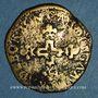 Monnaies Comtat Venaissin. Sixte V (1585-1590). Pinatelle 1587. Carpentras