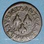 Monnaies Comtat Venaissin. Urbain VIII (1623-1644). Double tournois 1637