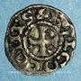 Monnaies Comté d'Anjou. Foulques V (1109-1129). Obole immobilisée
