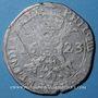 Monnaies Comté d'Artois. Philippe IV d'Espagne (1621-1640). Patagon 1623, Arras