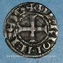 Monnaies Comté d'Auvergne. Alphone de Poitiers (1241-1271). Denier. Riom