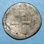 Monnaies Comté de Provence. Charles III d'Anjou (1480-1481). Demi-gros, Tarascon