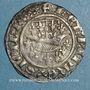 Monnaies Comté de Provence. Louis I et Jeanne (1349-1362). Demi-gros ou uthène. Tarascon