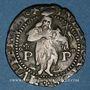 Monnaies Comté du Roussillon. Philippe II d'Espagne (1556-1598). Double sol 1598. Perpignan