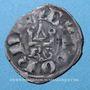 Monnaies Duché de Bourgogne. Eudes IV (1315-1349). Denier tournois, type avec BG sous le châtel