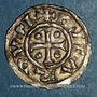 Monnaies Duché de Normandie. Richard I (942-996). Denier au fronton. Rouen
