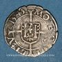 Monnaies Franche Comté. Cité de Besançon. Blanc (= 1/2 carolus) 1543