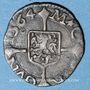 Monnaies Franche Comté. Comté de Bourgogne. Philippe II (1556-1598). Blanc (= 1/2 carolus) 1564. Dôle