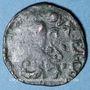 Monnaies Franche Comté. Comté de Bourgogne. Philippe IV (1621-1665). Double denier. Dôle