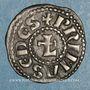 Monnaies Lyonnais. Archevêché de Lyon. Monnayage anonyme (vers 1150-1200). Denier au L barré
