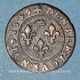 Monnaies Principauté de Dombes. Gaston d'Orléans (1627-50). Denier tournois 1649. Variante inédite !