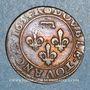 Monnaies Principauté de Dombes. Gaston d'Orléans (1627-50). Double tournois 1634