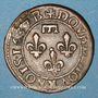 Monnaies Principauté de Dombes. Gaston d'Orléans (1627-50). Double tournois 1637
