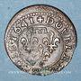 Monnaies Principauté de Dombes. Gaston d'Orléans (1627-50). Double tournois 1641