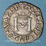 Monnaies Seigneurie de Béarn. Henri I d'Albret (1516-1555). Liard à la croisette