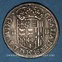 Monnaies Seigneurie de Béarn. Henri II (1572-1589). 1/4 écu 1585. Morlaàs