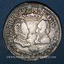Monnaies Seigneurie de Béarn. Henri II et Marguerite de Valois (1572-1589). Teston 1577. Morlaàs