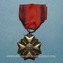 Monnaies Belgique. Décoration civique 1914-1918. Médaille argent de 2e classe. 1/2 réduction