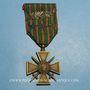 Monnaies Croix de guerre 1914-1918. 1er modèle 1914-1915. 1 fourragère et 3 citations
