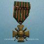 Monnaies Croix de guerre 1914-1918. 4e modèle 1914-1918. 1 citation