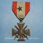 Monnaies Croix de Guerre des Théâtres d'Opérations Extérieurs (T.O.E.) (loi de 1921). 1 citation