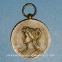Monnaies Fête Fédérale de sauvetage. Aubervilliers. 1931. Médaille bronze