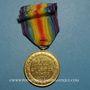 Monnaies Grande Bretagne. Médaille interalliée de la Victoire (1918) - World War I Victory Medal. Bronze doré