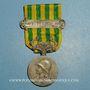 Monnaies Médaille de Chine. Barrette 1900 Chine 1901. Décoration et barrette en argent