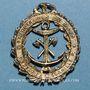 Monnaies Sauveteurs du Nord. Médaille métal (argent ?) avec émaux rouges et verts