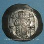 Monnaies Empire de Nicée. Théodore I Lascaris (1208-1222). Aspron trachy d'argent. Magnésie
