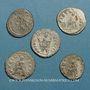 Monnaies Lot. Cinq antoniniens