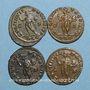 Monnaies Lot. Constantin I (307-337). 4 X Follis. Lyon, 312. R/: Génie