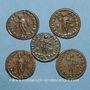 Monnaies Lot. Constantin I (307-337). 5 X Follis. Lyon, 310-311. R/: Génie