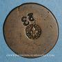 Monnaies Strasbourg. Objet médailliforme en cuivre, 17-18e siècle