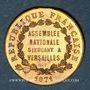 Monnaies Guerre de 1870-1871. A. Thiers, élu à l'Assemblée Nationale. Médaille cuivre jaune. 23,25 mm