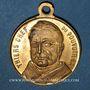 Monnaies Guerre de 1870-1871. A. Thiers, revue passée au Champ de Mars 1871. Médaille cuivre jaune. 23,4 mm