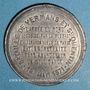 Monnaies Guerre de 1870-1871. Bataille de Vermans et St Quentin. 19 janvier 1871. Médaille en étain